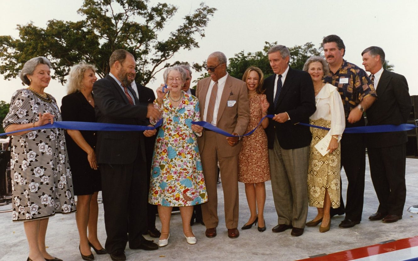 Lamar Louise Curry Ribbon Cutting, 1993