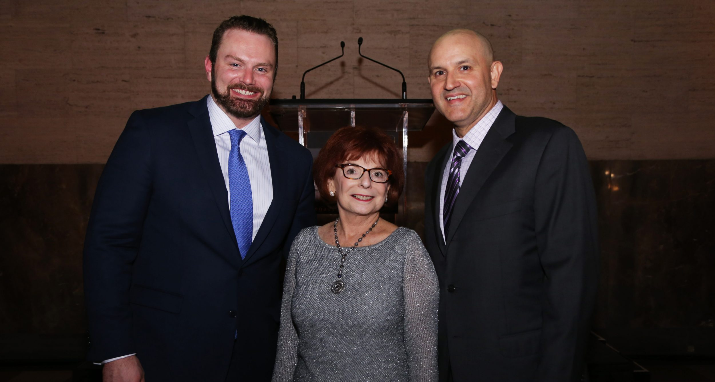 Jesse Bailey, senior executive director, advancement of University of Miami Sylvester Comprehensive Cancer Center, Ruth Young, treasurer of The Pap Corps: Champions for Cancer Research and Javier Alberto Soto, president and CEO of The Miami Foundation.