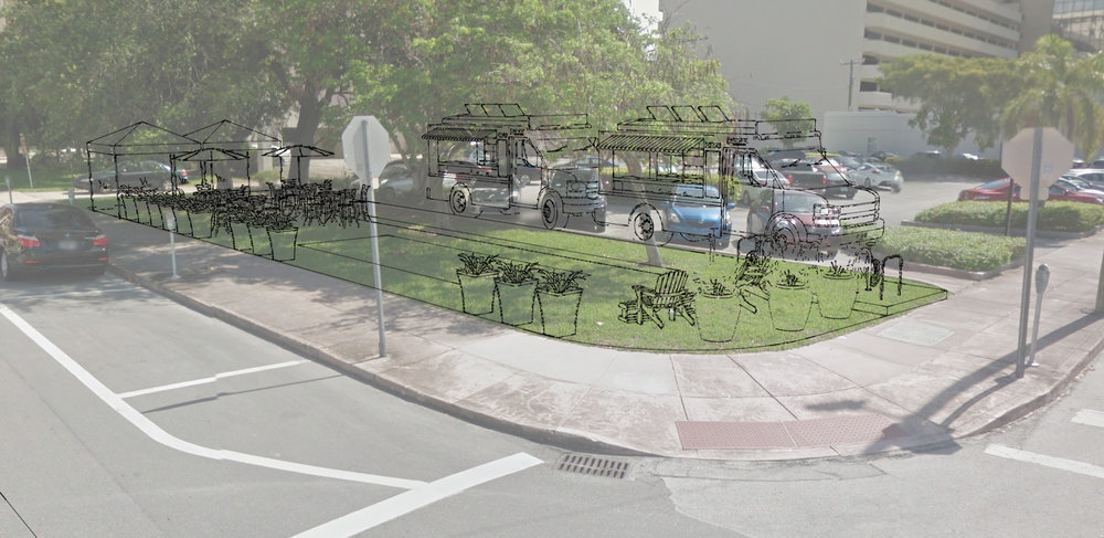 Pictured above: Downtown Coral Gables Community Park, a 2016 Public Space Challenge winner suggested by Bike Walk Coral Gables.