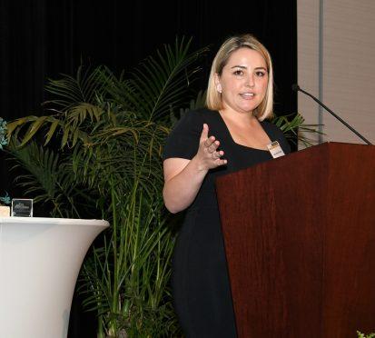 Ana Mari Ortega with Award