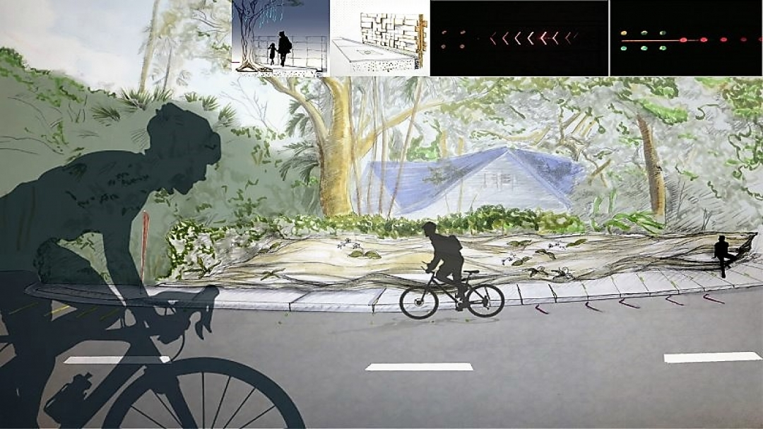 Bike path rendering