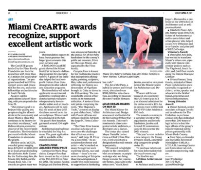 Miami Herald CreARTE Feature